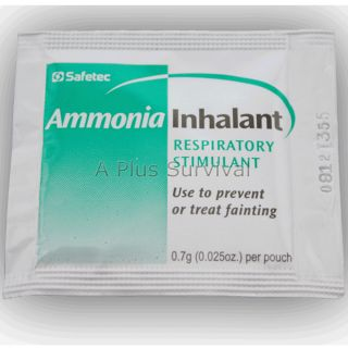 Ammonia Inhalants Great for First Aid Emergency Survival Kits