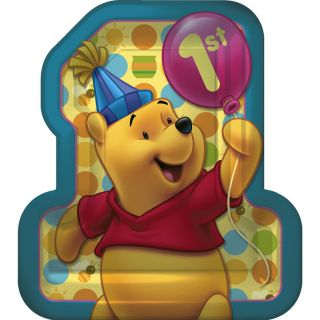 Winnie The Pooh 1st Birthday Party Banner 32 Plates Napkins 16 Cup 2