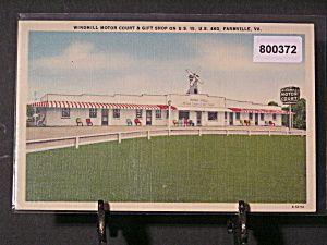 Farmville VA Windmill Motor Court Gift Shop 800372