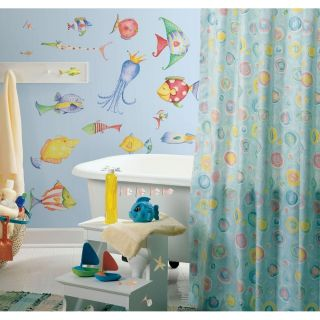 Wall Decals Tropical Fish Bathroom Stickers Room Decor