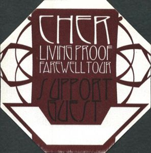Cher 2002 Living Proof Farewell Tour Guest Pass