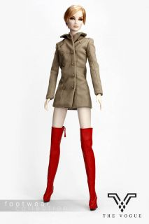 B519 The Vogue Red Leather Zipper Fashion Long Boots Shoes for Fr