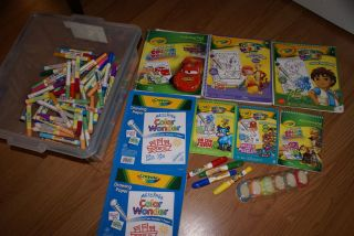 Crayola Wonder Coloring Pads Markers Finger Paint Cars Diego Toy Story