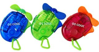 Battery Operated Personal Pocket Water Misting Fan w Carabiner