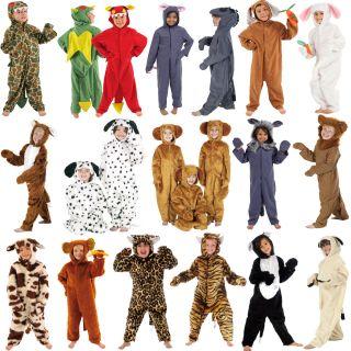 Boys Girls Zoo Jungle Farm Animal Fancy Dress Up Costume Outfit