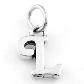 Sterling Silver 925 Fancy Letter L Charm Pendant
