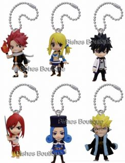 Anime Fairy Tail New Series Figure Strap x1 Jubia Laxus Natsu Gray