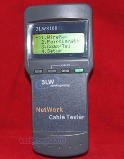 Pro Network Cable Tester Analyzer Wireless Length RJ45