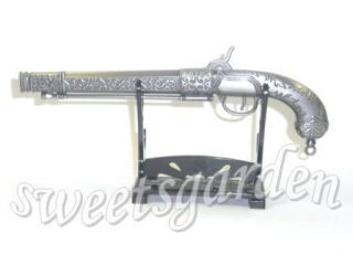 Pirate Flintlock Derringer Pistol Gun Arms Weapon Metal Model Display