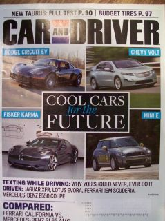Driver magazine August 2009 Ferrari Jaguar Fisker Karma Mercedes Benz