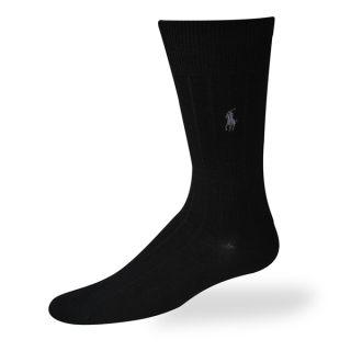 Polo Ralph Lauren mens socks Dress Merino Wool black 3 pairs
