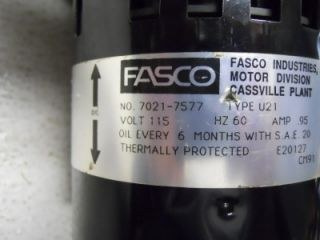 Fasco 7021 7577 Draft Inducer Motor Assembly