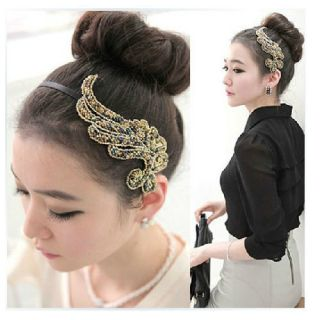 New Women Fashion Trendy Bling Angel Wing Headband Hair Band