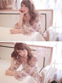 New Fashion Japan Girls Womens Sweet Floral Flower Ruffle Lace Mini