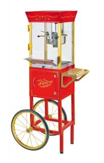 VENDOR STYLE POPCORN MAKER MACHINE OLD FASHIONED CONCESSION CART STAND