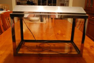 Vintage fish tank chrome stainless steel Metal aquarium tank complete