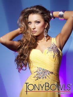 Tony Bowls 112535 Dress Paris Pageant Gown Prom Dresses Aqua Blue 10
