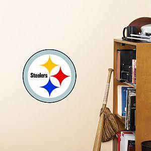 FATHEAD Pittsburgh Steelers Fathead Logo 11 Round Stick Anywhere