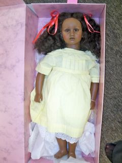Annette Himstedt Fatou Yellow Dress Black Doll Vintage