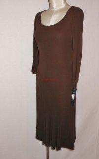Ralph Lauren Brown Viscose Denisia Career Cocktail Dress 1x $189 New