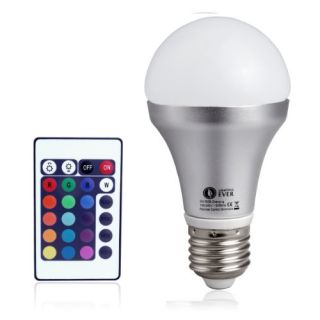 Features of Lighting EVER Remote Controlled Color Changing A19 5W LED