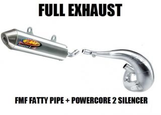 Full FMF Fatty Pipe Exhaust and Powercore 2 Silencer 91 06 Yamaha PW80