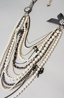 Betsey Johnson The Vintage Betsey Multi Chain Pearl Necklace