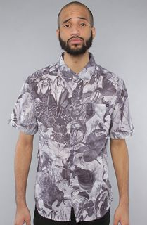 Insight The Trippy Floral SS Buttondown Shirt in Floyd Black