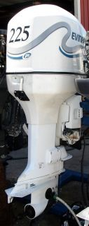 1999 Evinrude 2 Stroke 225 HP Outboard Motor 25 Shaft Boat Engine