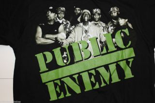 PUBLIC ENEMY   RAP GROUP PROMO T Shirt   Size SMALL   FLAV O FLAV