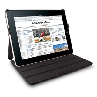 New Black Leather Cover Case Flip Book Folio for Apple iPad 1 First