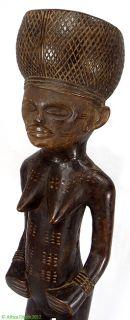 Lwena Standing Female Figure Angola Zambia African Oregon Collection