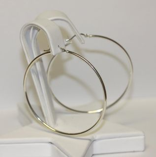 SS100 Extra Large Textured Earring Hula Hoop Style Sterling Silver