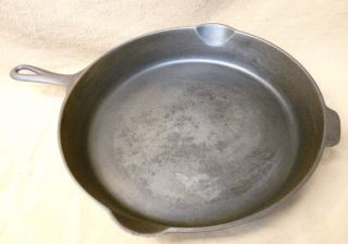EXC Old Griswold Erie PA #12 Cast Iron Skillet Large Logo HR 719
