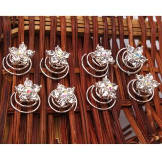 Five Pointed Star Hair Twists Spins Pins Fashion Exquisite Hair