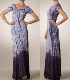 Bohemian Tie Dye Jersey Maxi Dress Hippie Extra Long skirt Boho L