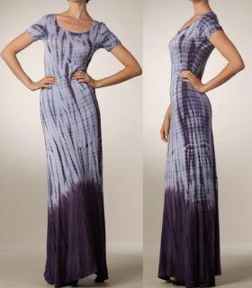 Bohemian Tie Dye Jersey Maxi Dress Hippie Extra Long skirt Boho L