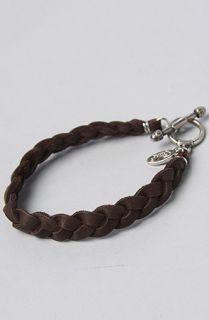 Ettika The Brown Braided Deerskin Leather Bracelet
