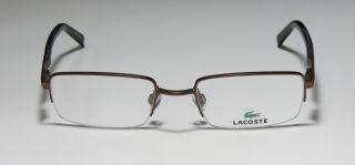 50 19 140 Brown Half Rim Vision Care Eyeglasses Glasses Frame