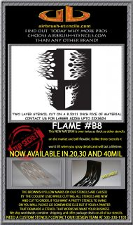 Flame B8 airbrush stencil template harley paint ~ NEW DESIGN!!