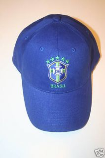 Brasil FIFA World Cup Blue Embroidered Hat Cap Brazil