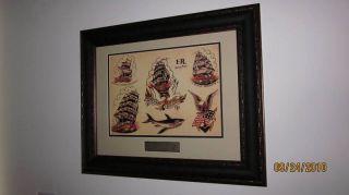 Sailor Jerry Tattoo Flash Frame Homeward Bound Shark