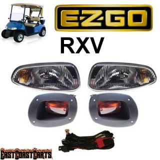 EZGO RXV Golf Cart Basic Light Kit Headlight Tail Light Kit