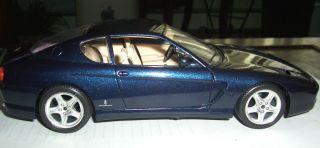 Bburago 1992 Ferrari 456 GT Car Detailed 1 18 Scale Die Cast Dark Blue
