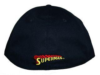 Superman DC Comics Super Hero Big Logo Flat Bill Cap Hat