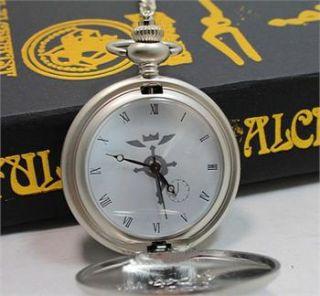 Full metal Alchemist Pocket Watch Necklace Ring Edward Elric