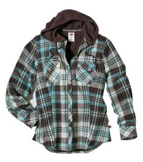 Dickies Jackets Dickies FJ350 Womens Plaid Flannel Shirt Jackets