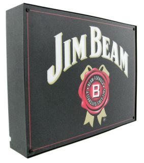 licensed jim beam bourbon fluorescent light box is perfect for use