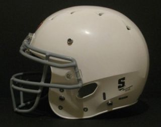White Youth Medium Regular Football Helmet Kids Face Mask