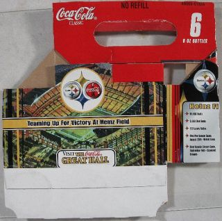 1999 6 Pack Bottle Holder Coca Cola Steelers Heinz Fiel